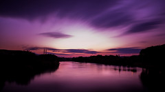 Dreamy Sunrise (ffsahin) Tags: sunrise morning sky clouds longexposure river purple