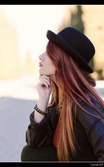 Irene Ballesteros - 4/5 (Pogdorica) Tags: modelo sesion retrato posado arganzuela pelirroja sombrero chica sexy