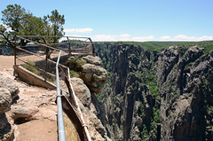 On The Edge - Explored 9/23/2016 (Jayhawk Explorer) Tags: ipiccy fence fencedfriday overlook cliffs canyon chasmview northrim blackcanyonofthegunnison colorado co nationalpark ontheedge rocks roadtrip