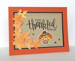 Thankful (krolski (Kathy)) Tags: sssflickrchallenge52 thanksgiving turkey card