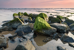 Beatles or Stones (Pieter ( PPoot )) Tags: northsea beach schoorl sunset stones basalt