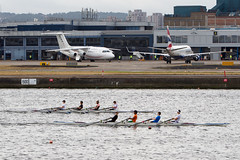 Rowing at LCY (Martyn Cartledge / www.aspphotography.net) Tags: aerodrome aeroplane air aircraft airline airliner airplane airport aspphotography aviation cartledge civilairline civilairliner flight fly flying jet lcy london londoncity martyn plane runway transport wwwaspphotographynet uk asp photography