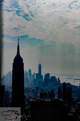 Afternoon Clouds (victorydesignsny) Tags: manhattanskyline skyline nyc nycskyline newyorkcity manhattan thecity clouds sky cityscape color colorphotography empirestatebuilding photographyforsale prints photos pictures nys newyorkstate empirestate