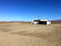 Amboy Airport - Route 66 California (simbajak) Tags: explored airport dirt runway amboy california mojave desert windsock gravel old building route66 roys
