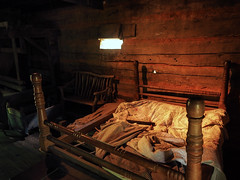 You Will Have to Sleep With Grandma When She Comes (TuthFaree) Tags: elements pioneer cabin dovetail interior poplar foxfiremuseum ga georgia bed appalachia scotchirish old authentic