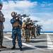 U.S. Marines, Sailors execute expeditionary marksmanship training aboard USS Green Bay