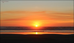 the perfect sunset! (MEA Images) Tags: sunset sun ocean pacificocean water waterscape waterscene sand reflection dusk twilight beach nature longbeach washington pacificnorthwest canon picmonkey