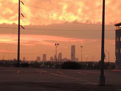 Clouds rolling in (Andrew Penney Photography) Tags: t2byf oklahomastateuniversity oklahomacity skyline downtown okc 405 oklahoma clouds colors color morning sunrays rain