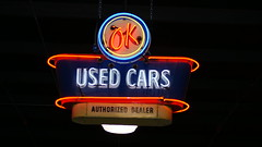 OK Used Cars (trekkie313) Tags: pigeonforge tennessee car museum neon 1950s ok advertising neonsign sign