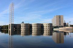 Old City Hall Reflections (Caleb Ficner) Tags: ottawa calebficner river rideauriver reflection oldcityhall morning