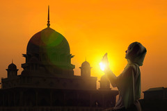 Female muslim praying (Krunja) Tags: arabic asian background belief concept dua east evening faith female girl god hands hijab holy indonesian islam islamic lady malaysia malaysian meditation middle morning mosque mubarak muslim outdoor pray prayer praying quran ramadan religion religious silhouette spiritual sun sunrise sunset symbol thailand traditional white woman worship young