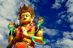 Buddha (@mons.always) Tags: sky clouds nikon buddha majestic leh ladakh monastry maitreya d90 diskit lpmajestic