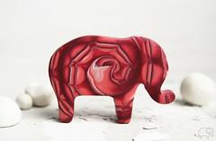 (Kni.Kni) Tags: elephant brooch fimo clay polymer