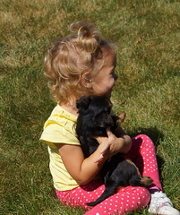 Ava and puppy 15