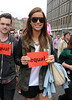 Vogue Williams attends a gay rights march in support of her sister Amber Dublin, Ireland