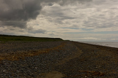 Good Crowd in Tonight (The_Kevster) Tags: leica sea sky orange beach clouds shingle perspective rangefinder naturereserve mann ayres isleofman summicron50mm ellanvannin leicam9