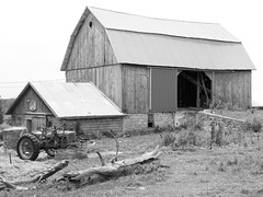 Barn, Cashton, 29 June 2012 (ed_needs_a_bicycle) Tags: usa monochrome wisconsin barn unitedstates 2012 cashton sigmadc1770mmf284macrohsm
