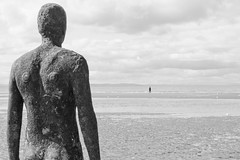 Iron men (stumpyheaton) Tags: sea white black beach sand place another antony crosby gormly
