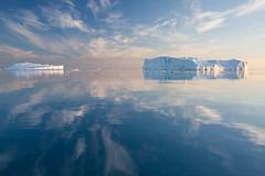 IMG_6739 (qitsuk) Tags: sunset reflection ice reflections evening arctic greenland midnight iceberg artic icebergs grönland ilulissat icefjord kangia icefiord midnigtsun kitaa