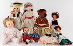 2039. Group of (9) Dolls