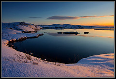 ingvallavatn (Frijfur M.) Tags: show winter sunset lake cold ice water colors iceland sland ingvallavatn thingvellirnationalpark canon50d colorphotoaward flickraward tokina116 flickraward5 mygearandme mygearandmepremium mygearandmebronze mygearandmesilver mygearandmegold mygearandmeplatinum mygearandmediamond flickrawardgallery