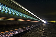 Night Train (Walimai.photo) Tags: station night train tren noche trail zamora estación talgo estela abejera