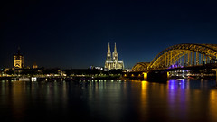 Cologne - Postcard Shot (L I C H T B I L D E R) Tags: summer skyline germany evening cityscape cathedral dom cologne kln nrw bluehour klnerdom colognecathedral stadtansicht flickraward flickraward5 flickrawardgallery