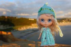 Watching the Sunset (jessi.bryan) Tags: trip sunset beach oregon doll sewing oregoncoast blythe eurotrash mohairblythe wingsinflight capekiwandastatepark gbabycustom
