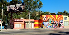Round the Hood by Eduardo Kobra on La Brea (Eric Demarcq) Tags: california road ca street vegas usa america la losangeles labrea laweekly laist canoneos600 roundthehood eduardokobra discoverla ericdemarcq roundthehoodbyeduardokobraonlabrea
