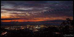 Sunset over Brisbane City CU (Jessica Lea Photography) Tags: city sunset mountain look out mt 21st august brisbane lookout mount mtn 2012 gravatt 21082012
