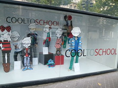 "Shop window display: ""Cool to school"" (John Steedman) Tags: france marseille frankreich frankrijk francia フランス massilia 法国 马赛 franglais 馬賽 マルセイユ"