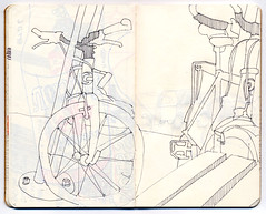 Cannondale and Pake (Tinymeat PDX) Tags: moleskine sketch bikes bicycles penandink 12n halfnielsen