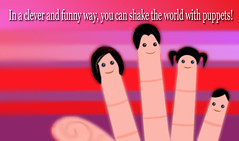 puppet quotation (Bambrette) Tags: graphicdesign funny puppet fingers quotation pinkcolours puppetquotation