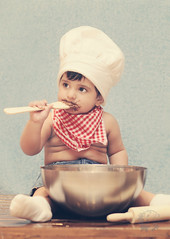 "Baby boy ""E"" (Rawan Mohammad ..) Tags: boy baby cooking kids photography photo babies little cook chef nutella cooker 2012 rn   rawan       mohammmad"