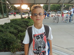 Joseph Abboud, 3rd grader at Country Place Elementary (CFBISD) Tags: august2012 cfbfirstday firstday cfbisdstudents students parents education