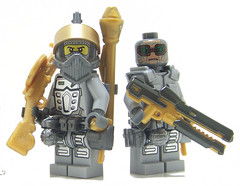 Gold Members (Silenced_pp7) Tags: gold star golden gun power lego fig space police rail mini prototype clones figure wars member minifig custom clone figs miners proto minifigure panzerfaust railgun brickarms dp28