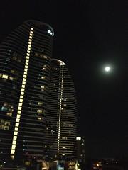 Blue Moon over Broadbeach (Marie.Frances) Tags: moon highrise modernarchitecture bluemoon nightfullmoon