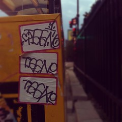 TEEN (billy craven) Tags: chicago graffiti sticker teen handstyles slaptag uploaded:by=instagram qfk
