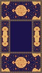 Mansur Complex Frame (azat1976) Tags: old flower detail floral architecture leaf colorful floor decorative islam traditional decoration craft architectural arabic glaze frame ornate decor islamic decorated illustrationandpainting