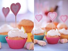 cupcakes (anastasiya_avdeeva) Tags: pink stilllife food white home kitchen rose breakfast dessert 50mm cupcakes baking yummy blurry colorful dof sweet bokeh eat homemade comfort frosting 50mmf14 markii