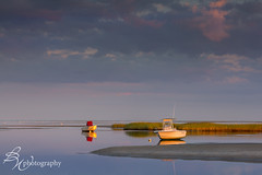 first light (betty wiley) Tags: sunrise boats marsh lowtide pinkclouds rockharbor eastham september2012