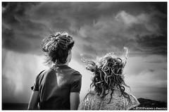 Vento nei Capelli (wind in your hair) (Johnnykeyboard (www.sergioparini.com)) Tags: clouds hair blackwhite nuvole wind biancoenero vento capelli orizzontale
