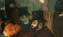 Toulouse-Lautrec, At the Moulin Rouge with detail of men