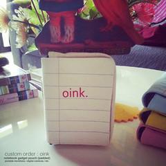 Notebook Gadget Case - Custom Order (my little odd forest) Tags: notebook design words singapore screenprint handmade sewing text harddisk case gadget forestprints littleoddforest handphone padded