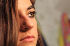 Looking ahead (dmelchordiaz) Tags: portrait eye girl beautiful hair ojo eyes chic