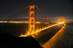 Golden Gate at Night (Arp Gallery) Tags: california bridge water fog night digital canon golden gate san francisco archietecture zazzle photodigital