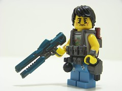 Killer Cobalt (Silenced_pp7) Tags: urban gun lego over halo rail prototype minifig mold custom cobalt apoc railgun brickarms overmold overmolded