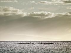The Races (nicholasdyee) Tags: ocean sky water clouds landscape island hawaii maui canoe races lanai nicholasyee nicholasdyee