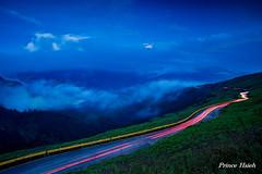 -  - Cars trails on the HeHuan Mountain (prince470701) Tags: clouds taiwan   nantou   hehuanmountain  tarokanationalpark carstrails sonya850 sony1635za
