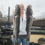 WBFT - Sharon with her pair of Bass